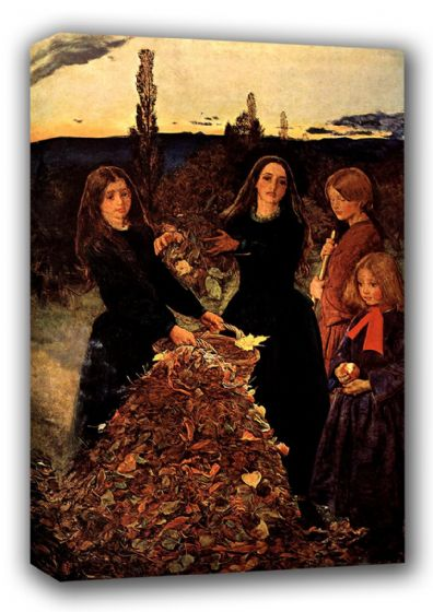 Millais, John Everett: Autumn Leaves. Fine Art Canvas. Sizes: A3/A2/A1 (00702)